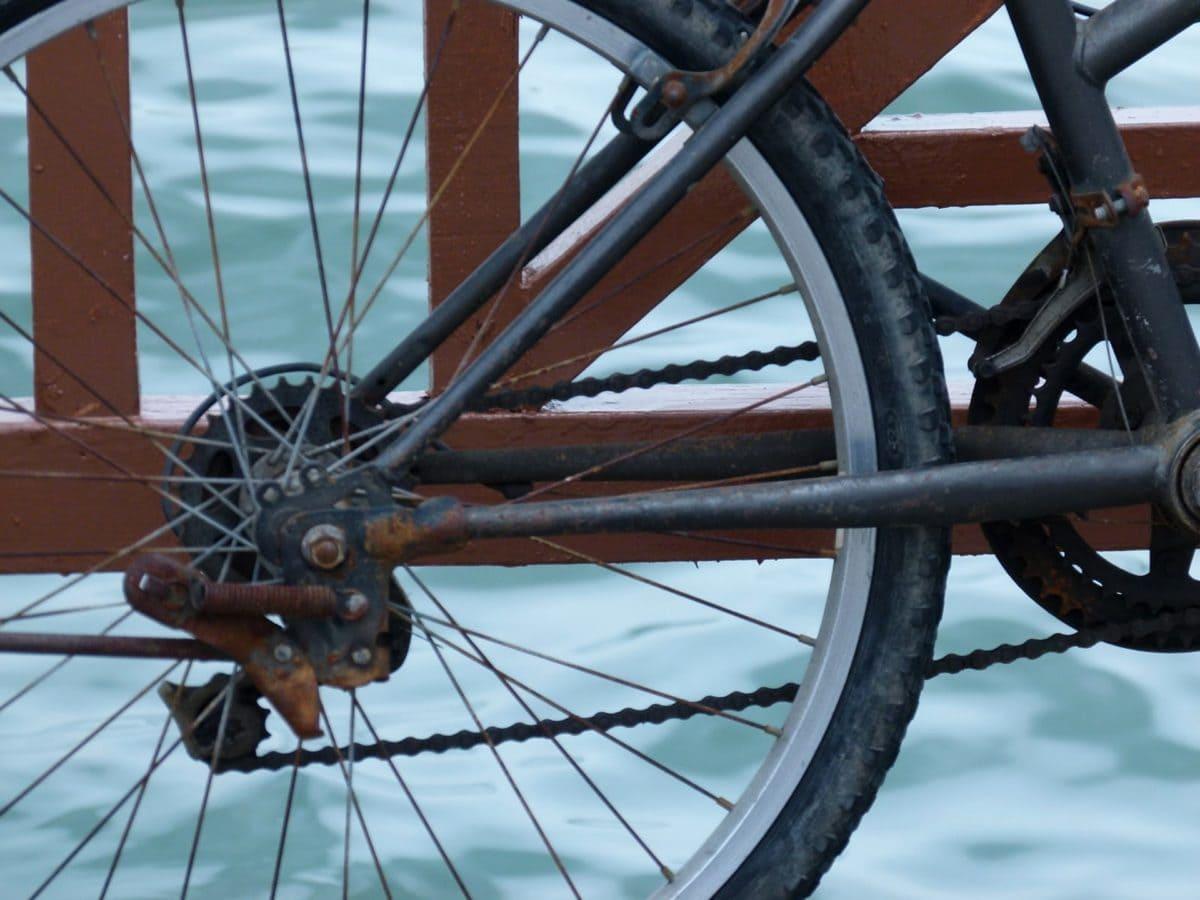 Polkupyöräily, pyörän, vanne, laitteen, tuki, ajoneuvon, rengas, pyörä
