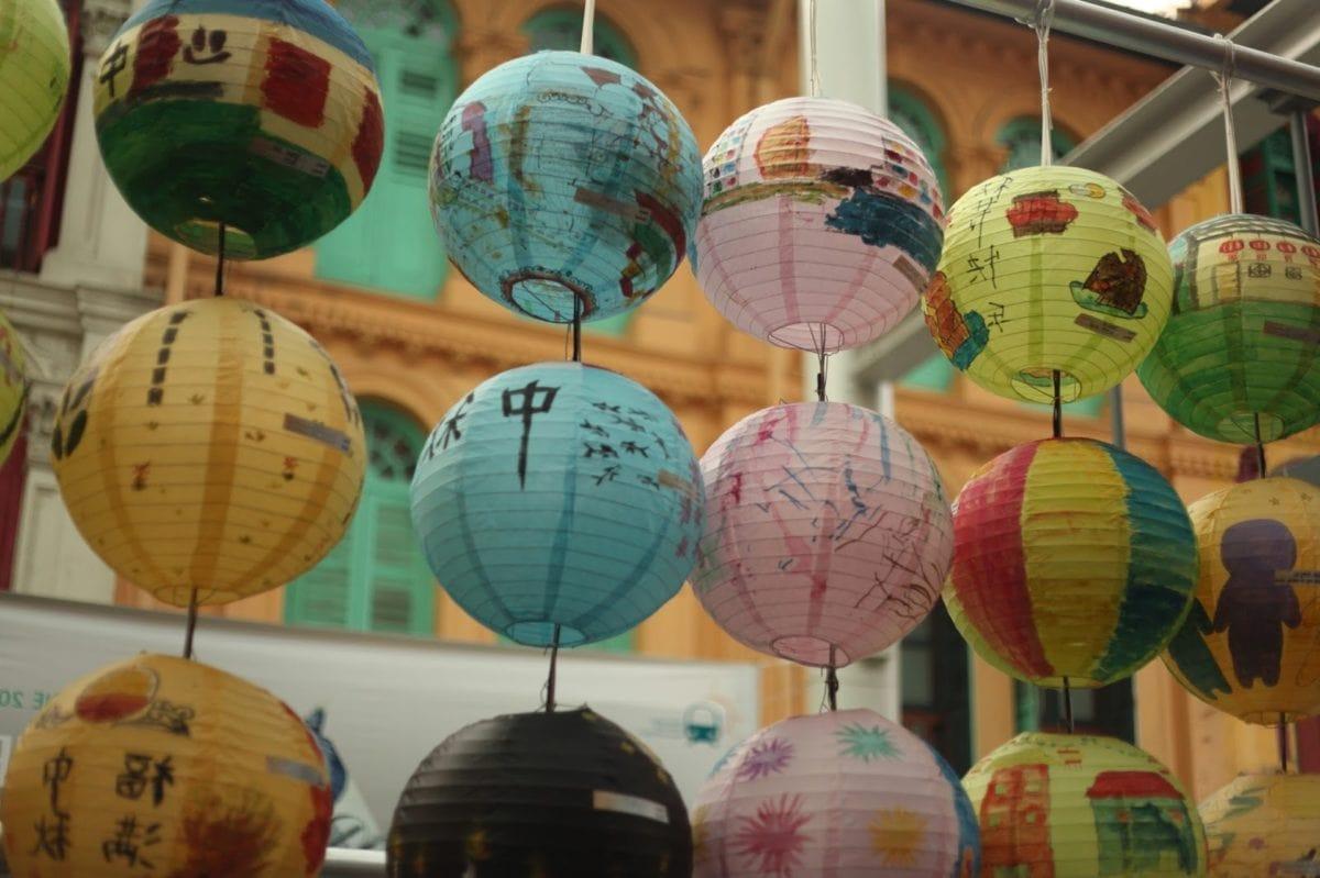Asia, Kina, fargerike, festivalen, lampe, lykt, tradisjonelle, feiring