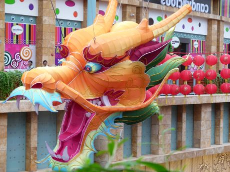 carnival, China, dragon, dragon head, festival, street, traditional, color