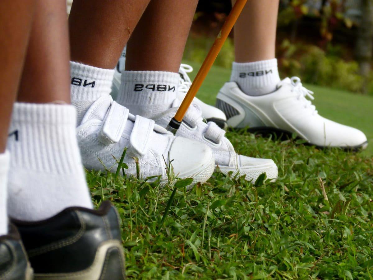 клуб, крак, трева, играта, голф, спорт, чай, топка