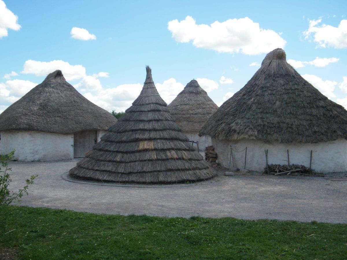 Afrika, Ökotourismus, Haus, alt, Altmodisch, Dorf, Antike, Dach