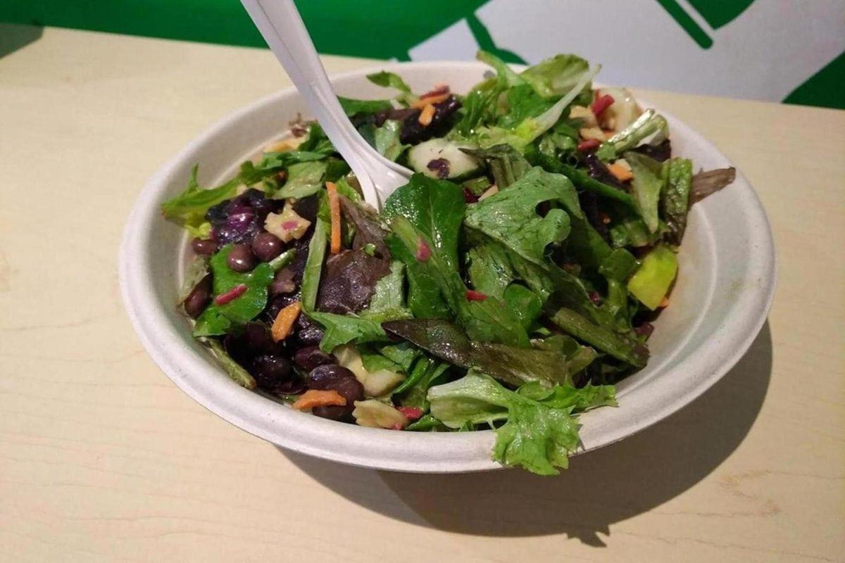salade, bar à salade, cuillère, dîner, plaque, repas, légume, déjeuner