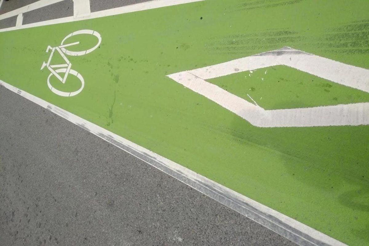 Asfaltti, vihreä, merkki, tie, vapaa-aika, tyhjä, ruoho, kilpailu