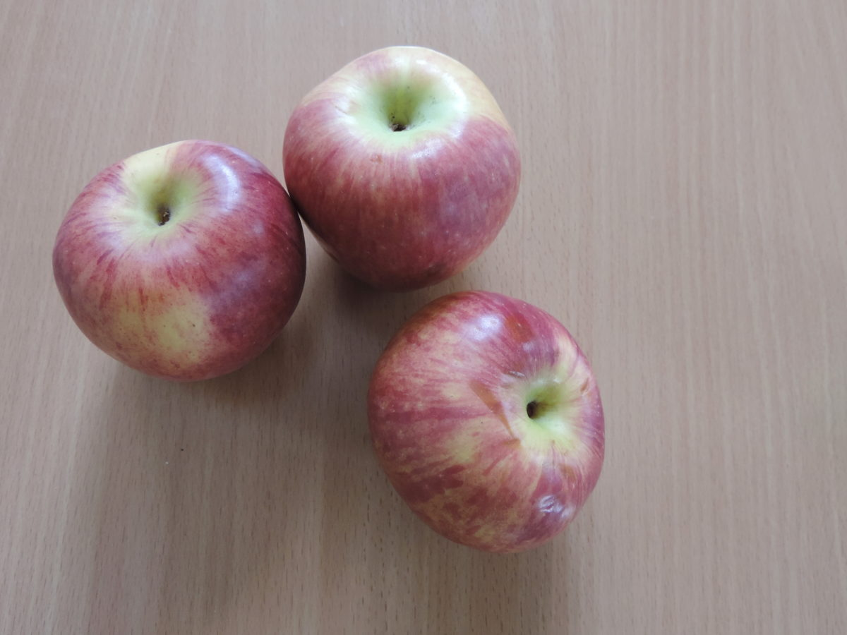 pommes, en détail, organique, trois, frais, alimentaire, fruits, délicieux