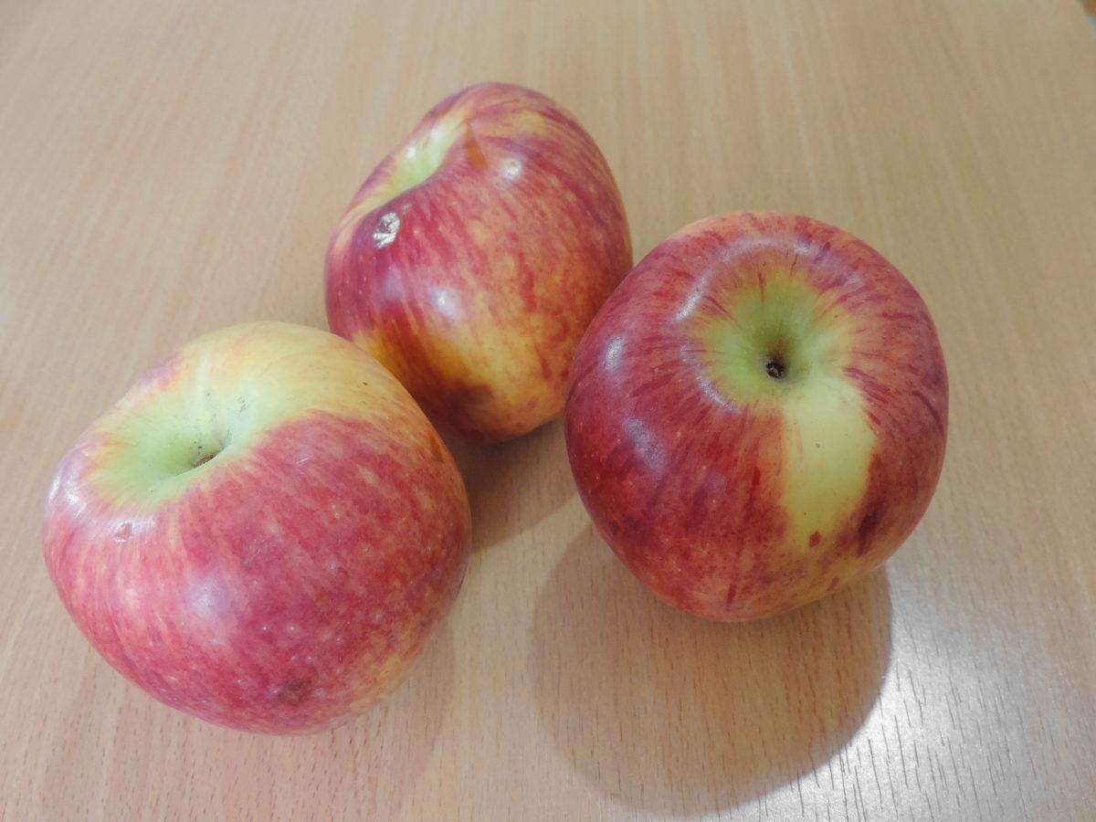 τρεις, τροφίμων, διατροφή, φρέσκο, μήλο, νόστιμα, φρούτα, υγεία