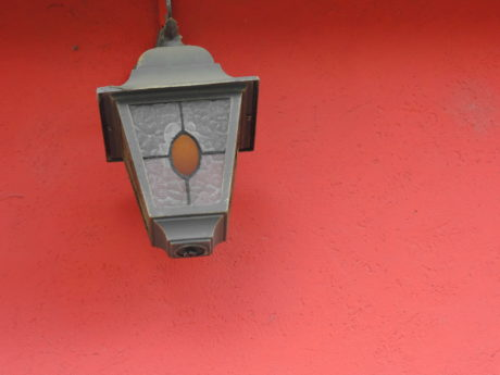 cast iron, detail, lamp, metal, red, vintage, retro, old