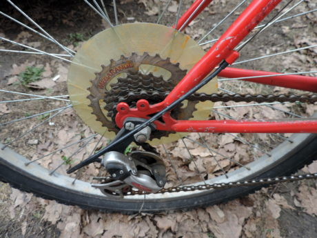 bicycle, chain, iron, rust, device, support, wheel, bike