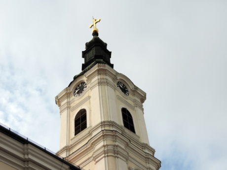 church tower, cross, fine arts, gold, orthodox, Serbia, ancient, architectural style