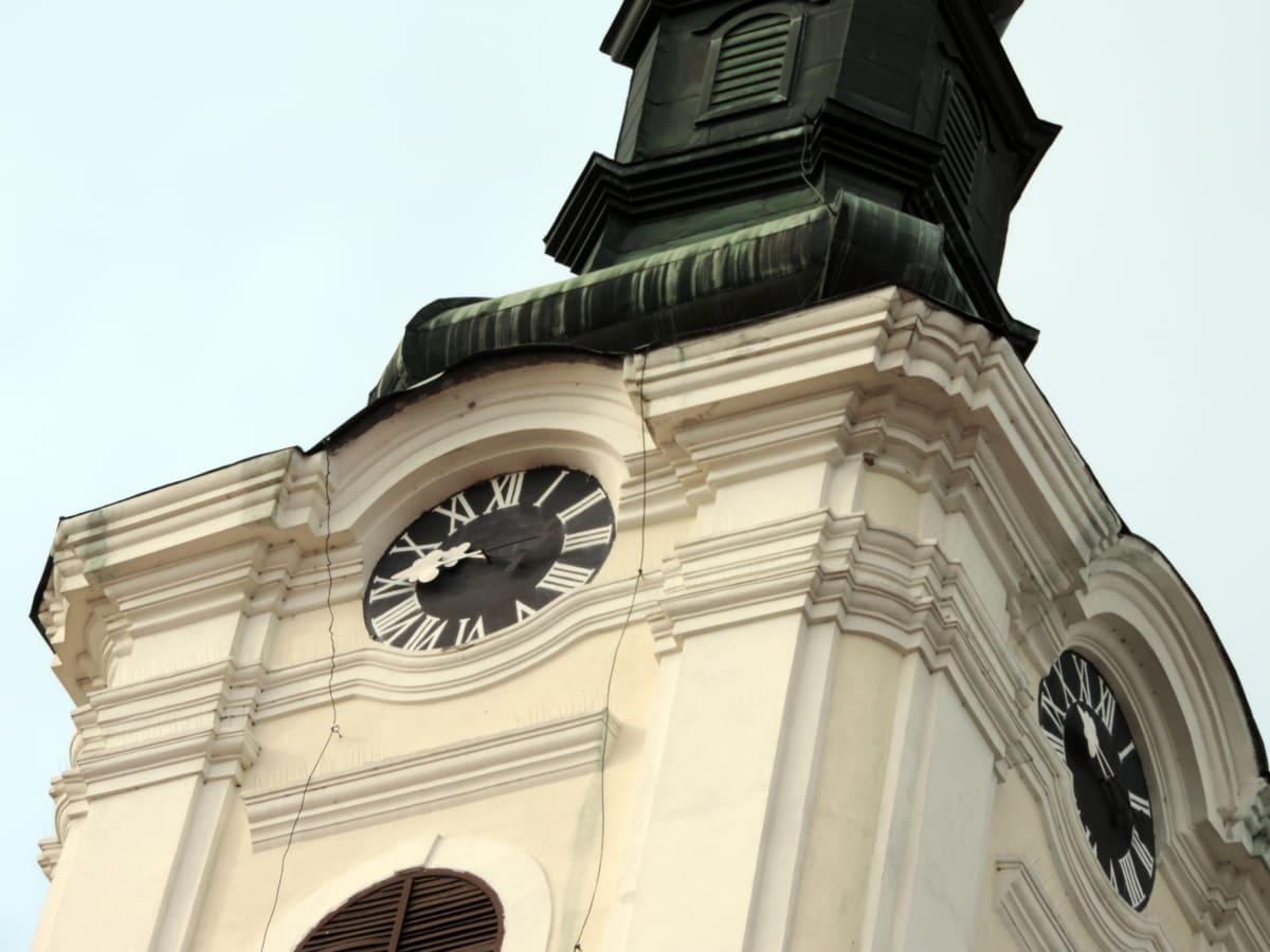 Byzantine, Église, steeple, extérieur, orthodoxe, horloge, architecture, Création de