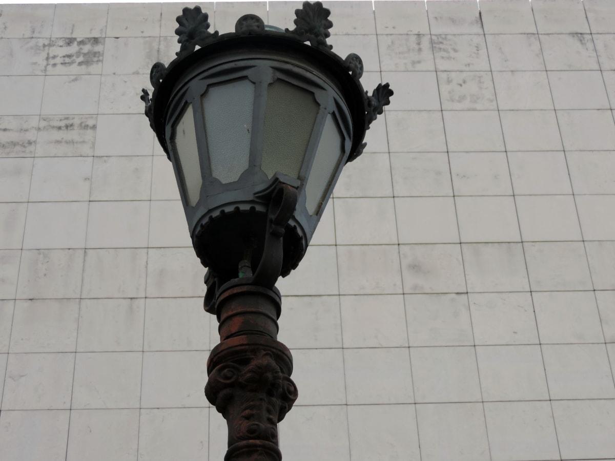 чугун, лампа, фенер, улица, архитектура, пътуване, технология, град