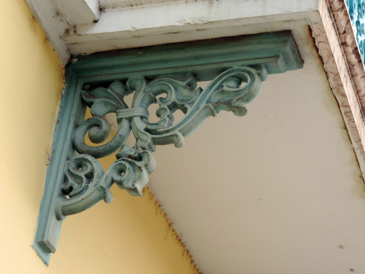 arabesco, barroco, hierro fundido, decoración, verde, metal, Casa, arquitectura