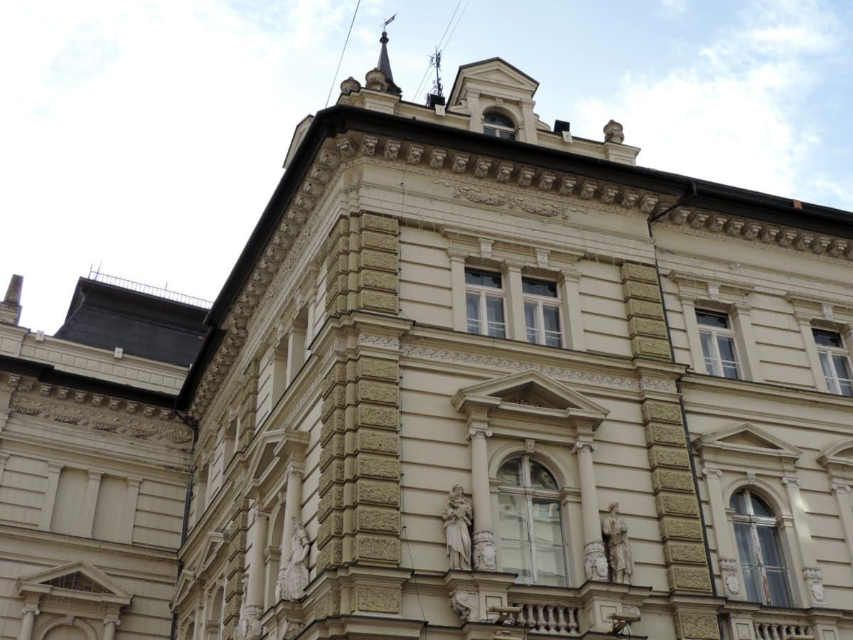 arabesque, building, exterior, residence, Serbia, windows, architecture, facade