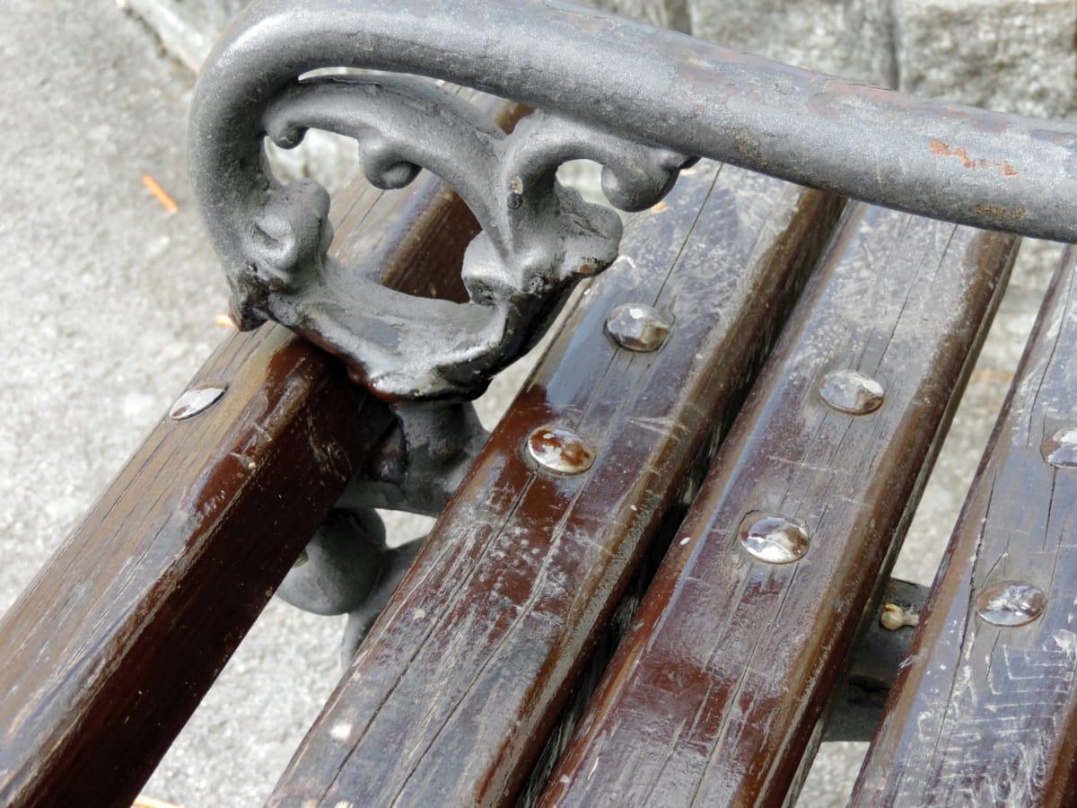 Sitzbank, aus Gusseisen, Möbel, Verbindungselement, alt, Eisen, Stahl, Branche
