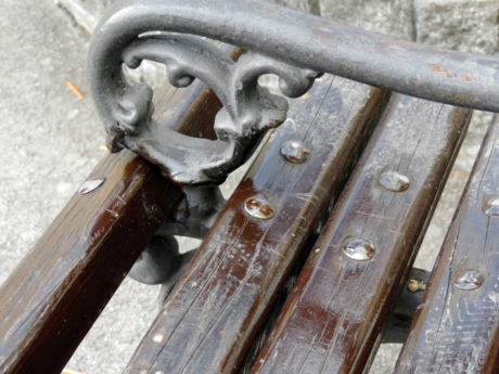 bench, cast iron, furniture, fastener, old, iron, steel, industry