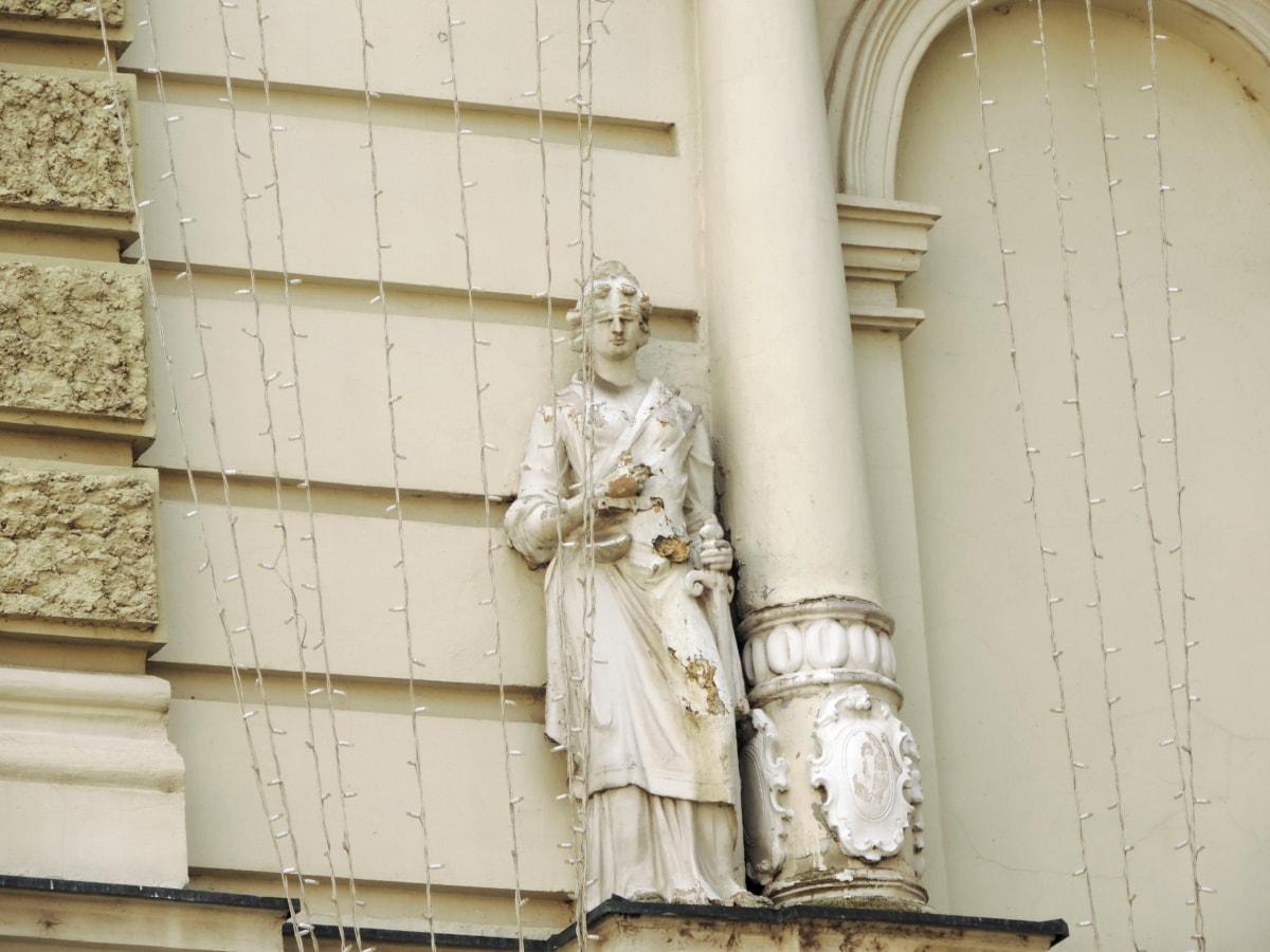 статуя, архитектура, сграда, скулптура, стар, камък, изкуство, пътуване