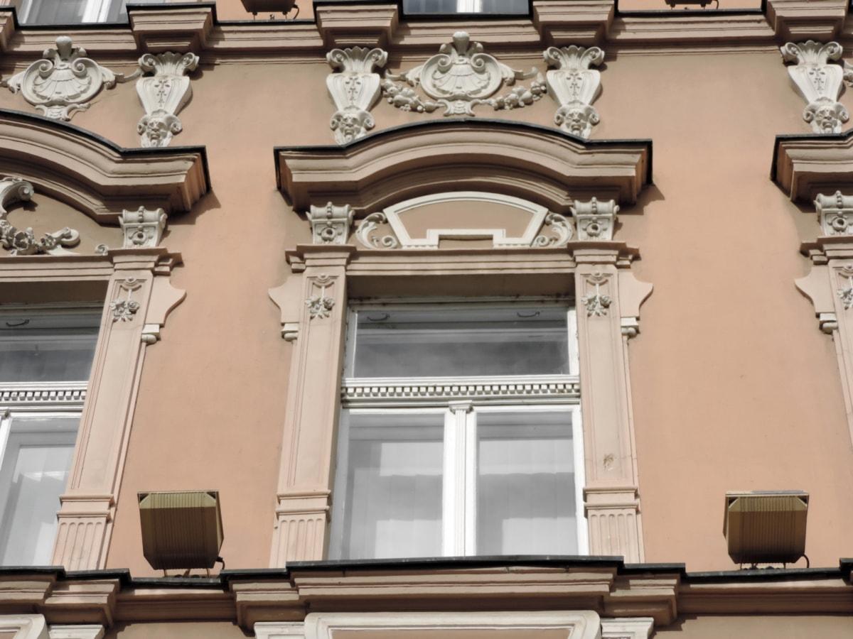 Arabesque, κεφαλαίου, διακόσμηση, ορόσημο, παράθυρο, κτίριο, πρόσοψη, αρχιτεκτονική