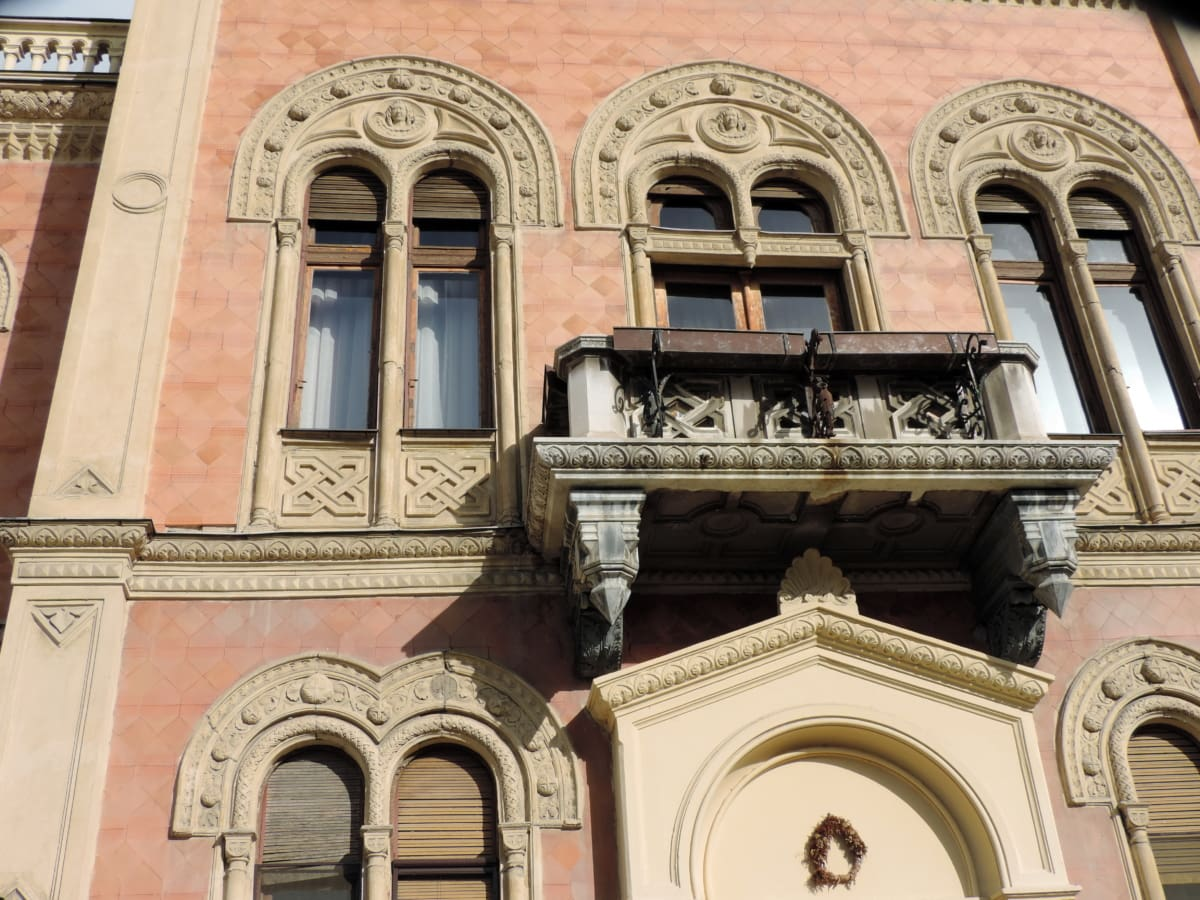 balcony, building, architecture, facade, religion, travel, city, old
