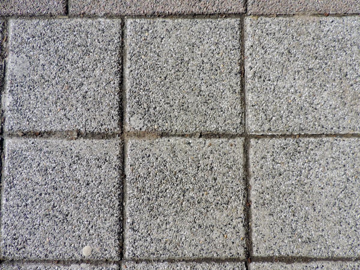 куб, стар, цимент, стена, текстура, камък, модел, бетон