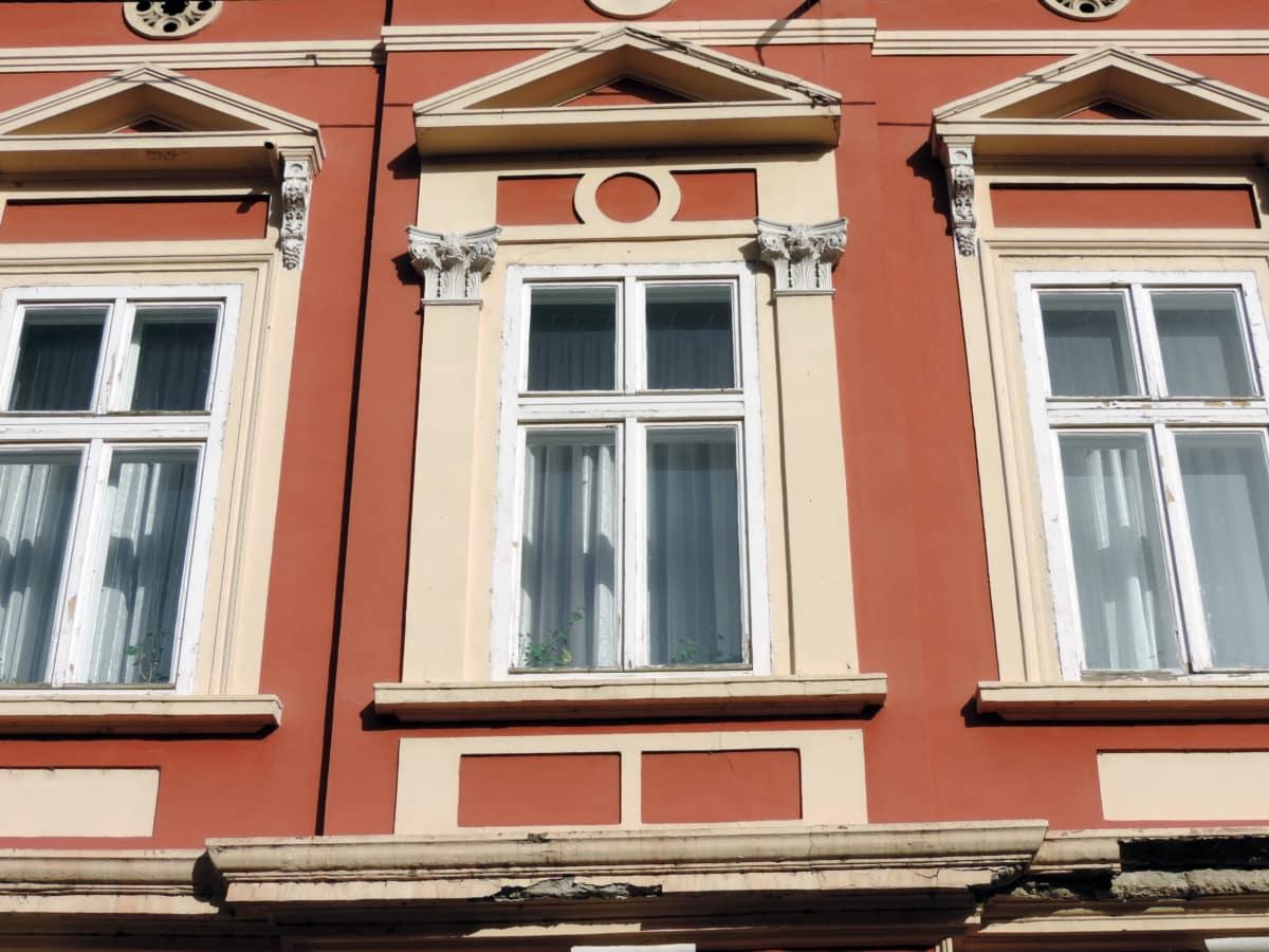 baroque, exterior, house, facade, framework, architecture, building, window