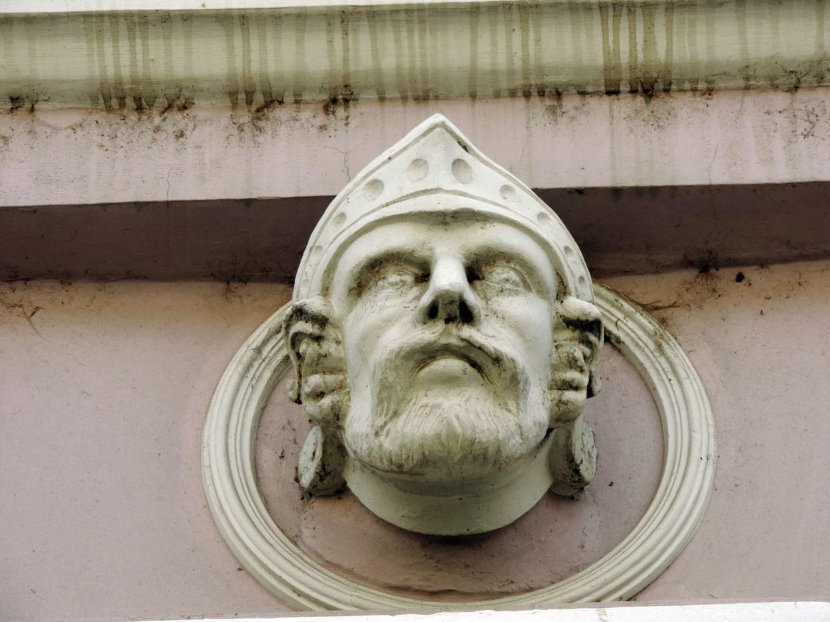μπαρόκ, κεφάλι, άγαλμα, γλυπτική, τέχνη, αρχιτεκτονική, παλιά, Αρχαία