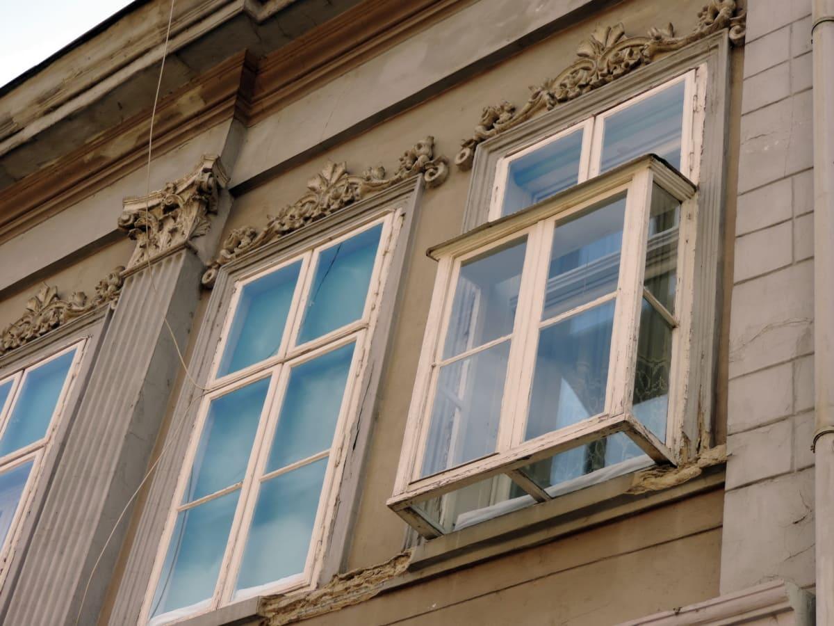 baroque, windows, house, architecture, window, building, framework, facade