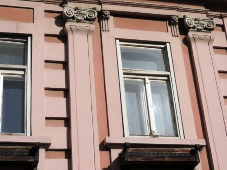 baroque, detail, window, house, architecture, building, balcony, wood