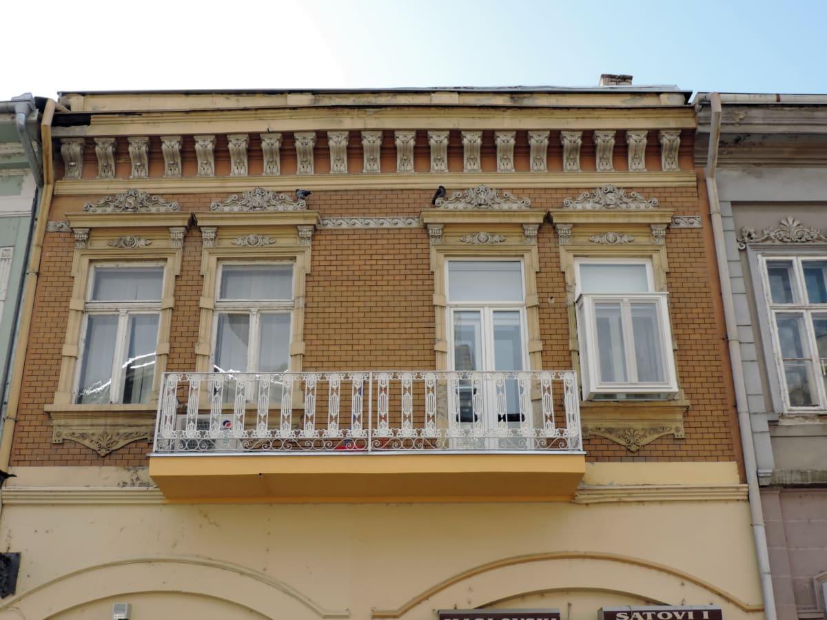baroque, house, architecture, balcony, window, facade, building, city