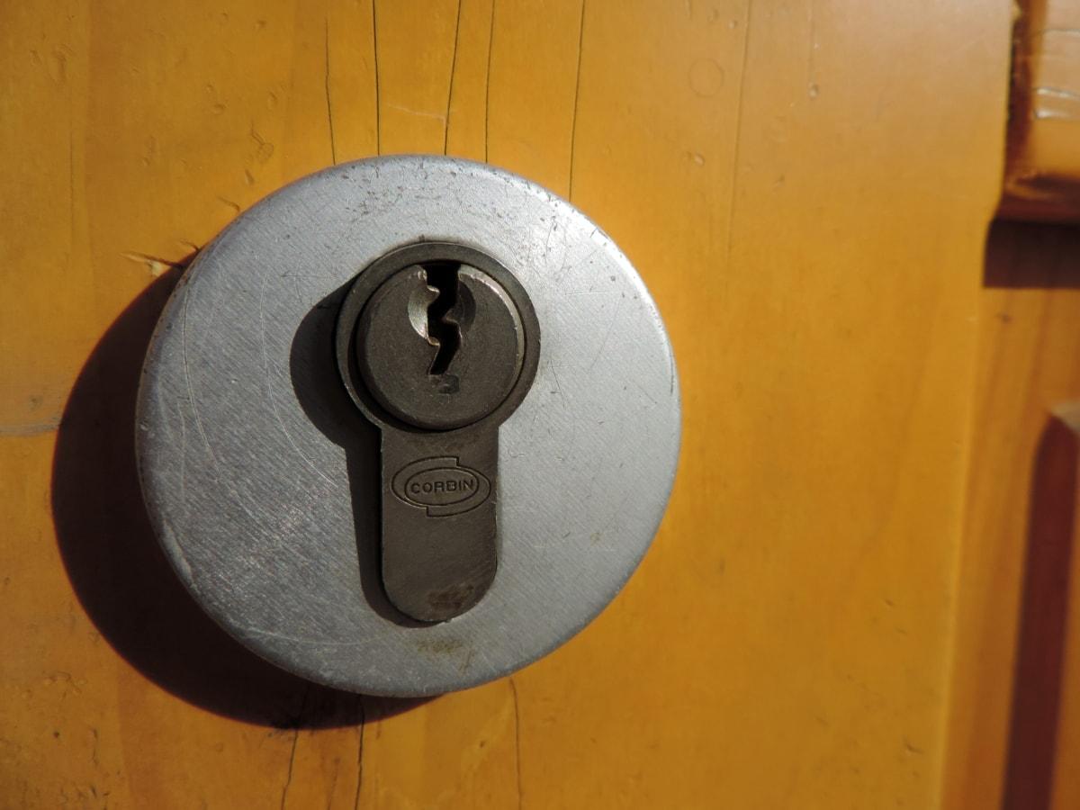 вратата, заключване, сигурност, безопасност, ключалка, къща, вход, дървен материал