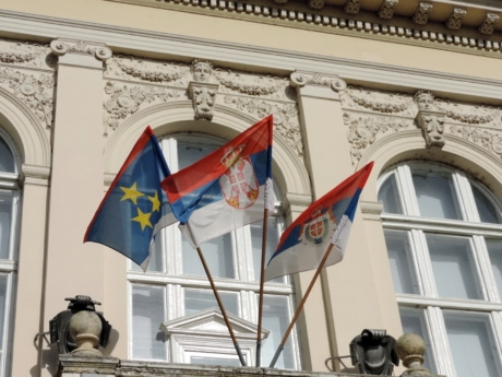 democracy, exterior, flag, Serbia, balcony, structure, administration, election