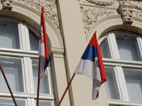 democracy, emblem, flag, pride, Serbia, architecture, administration, building