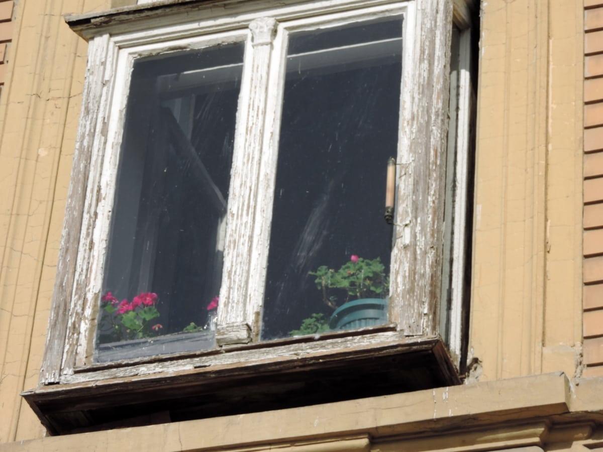 rez, dřevo, zeď, architektura, dveře, okno, parapet, dům