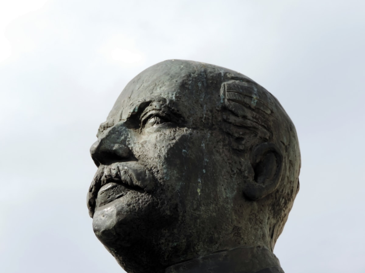 Bronzo, ghisa, viso, fatto a mano, Museo, scultura, Statua, arte