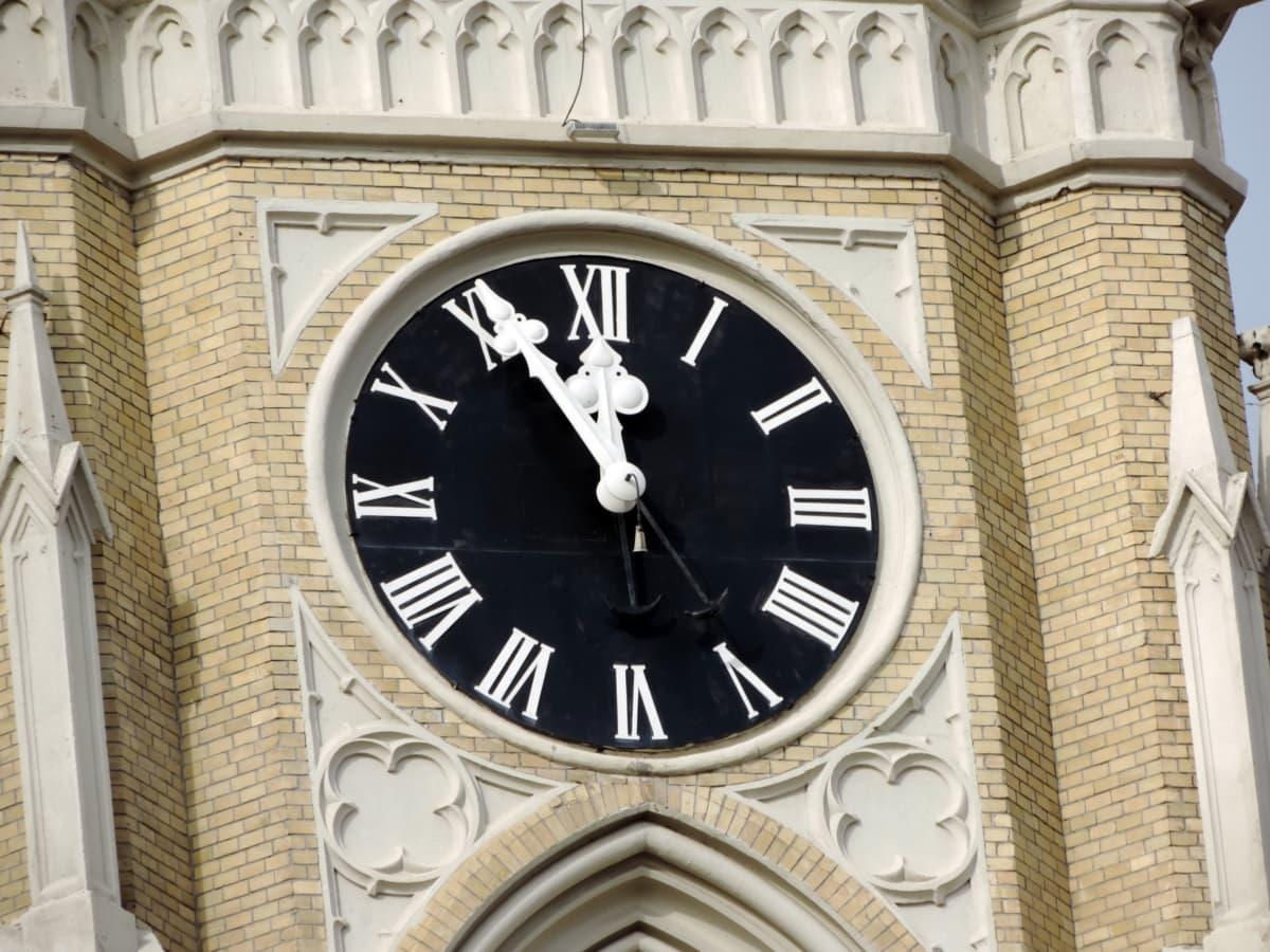 часовник, часовник, ръка, архитектура, време, аналогов часовник, стар, сграда