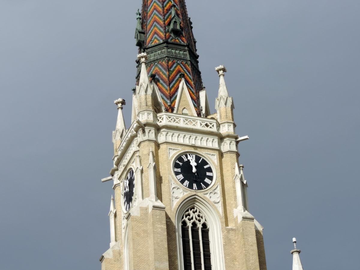 αρχιτεκτονική, Πύργος, κτίριο, Εκκλησία, ταξίδια, Καθεδρικός Ναός, Ρολόι, πόλη