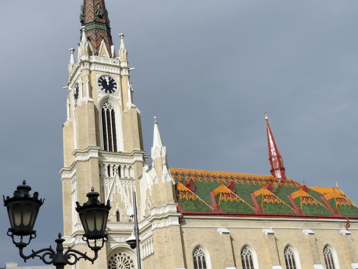 cathedral, catholic, downtown, facade, Serbia, tower, church, architecture