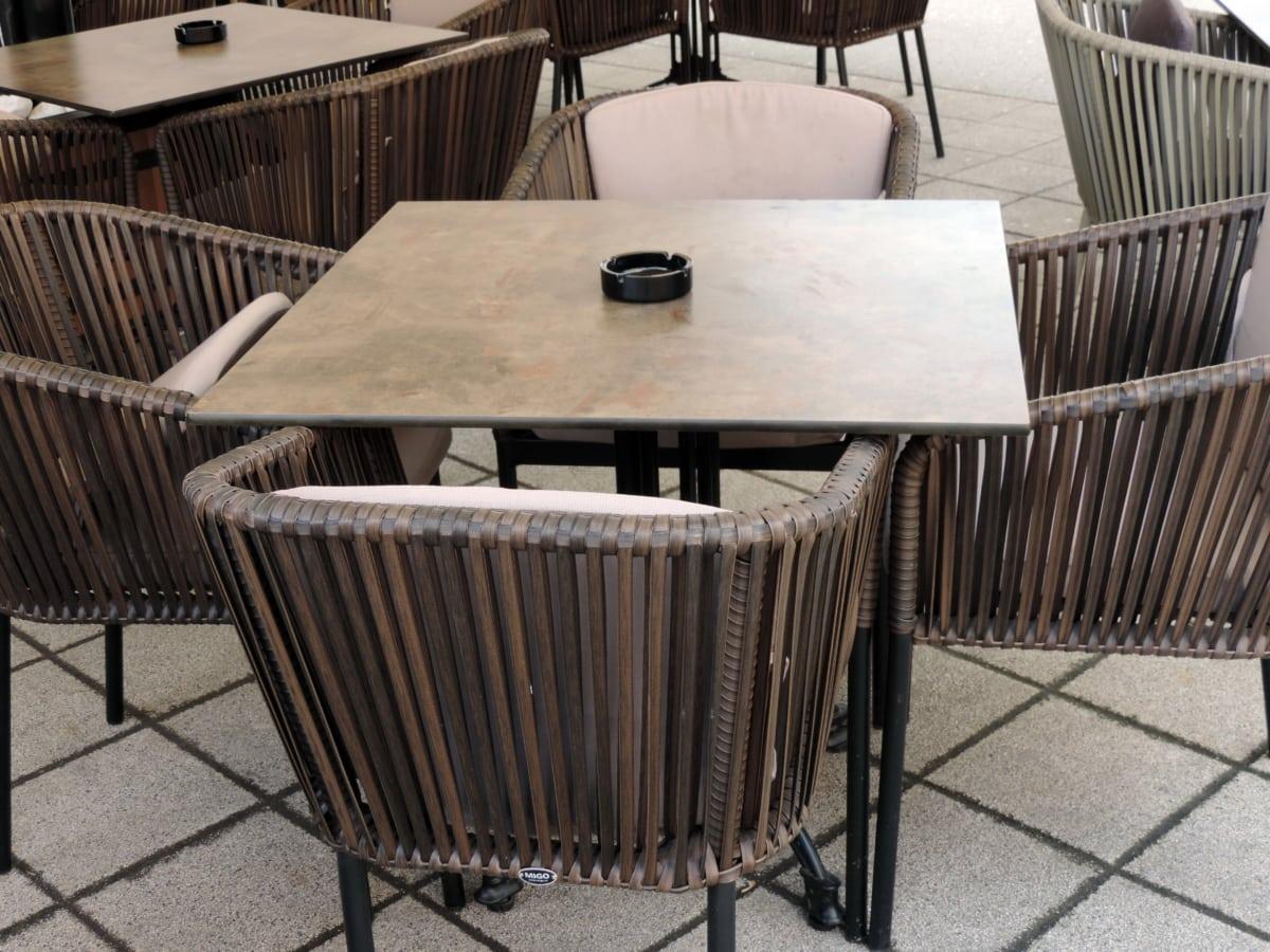 Mebel, interior, kursi, kursi, kayu, dalam, kosong, kontemporer