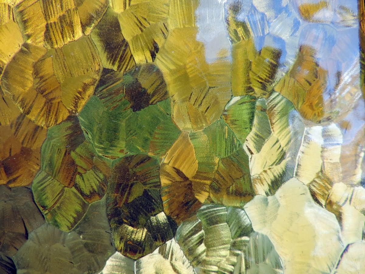 Collage, progettazione, Dettagli, vetro, verde giallo, arte, modello, artistico