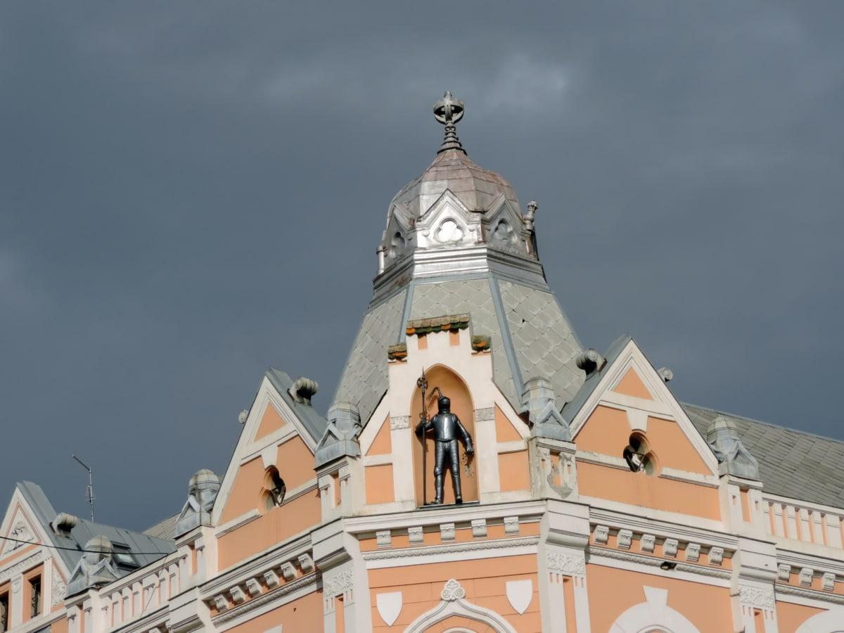 чугун, фасада, архитектура, пътуване, сграда, религия, кула, стар