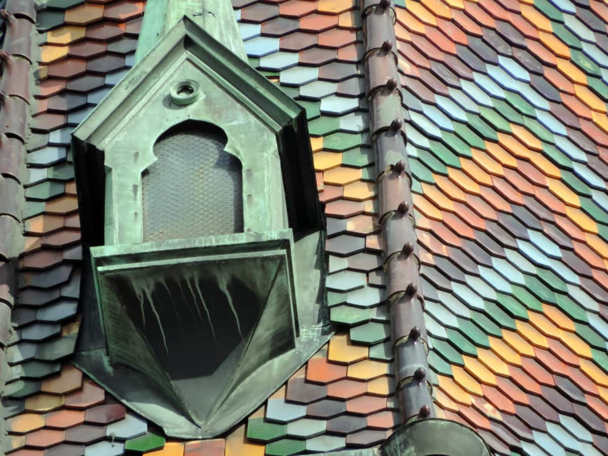 church tower, colorful, detail, window, architecture, roof, building, tile