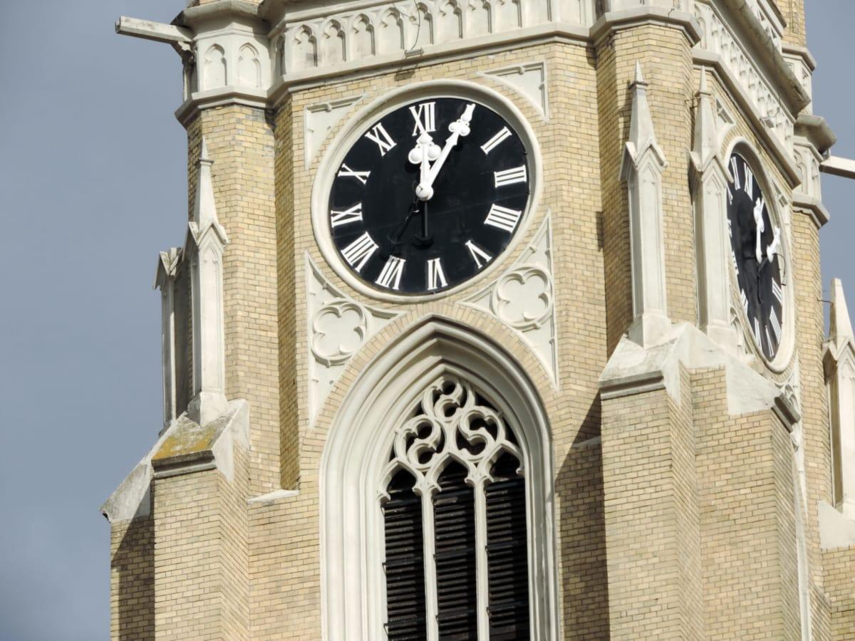 tour, abri, architecture, Église, horloge, Création de, Cathédrale, vieux