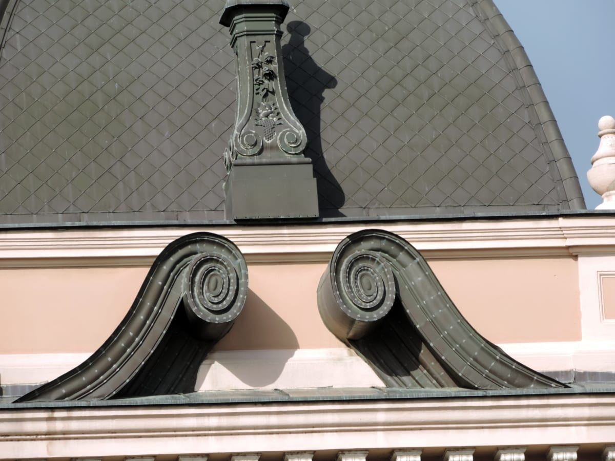 месинг, покрив, покрива, купол, сграда, архитектура, модерни, дизайн