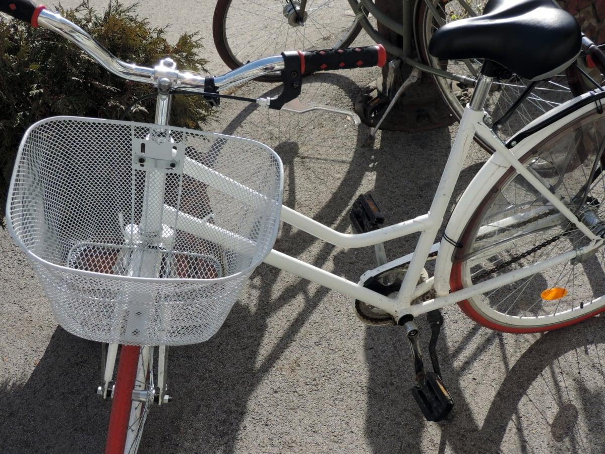 kerék, ülés, kerékpár, eszköz, kerékpár, utca, régi, berendezések