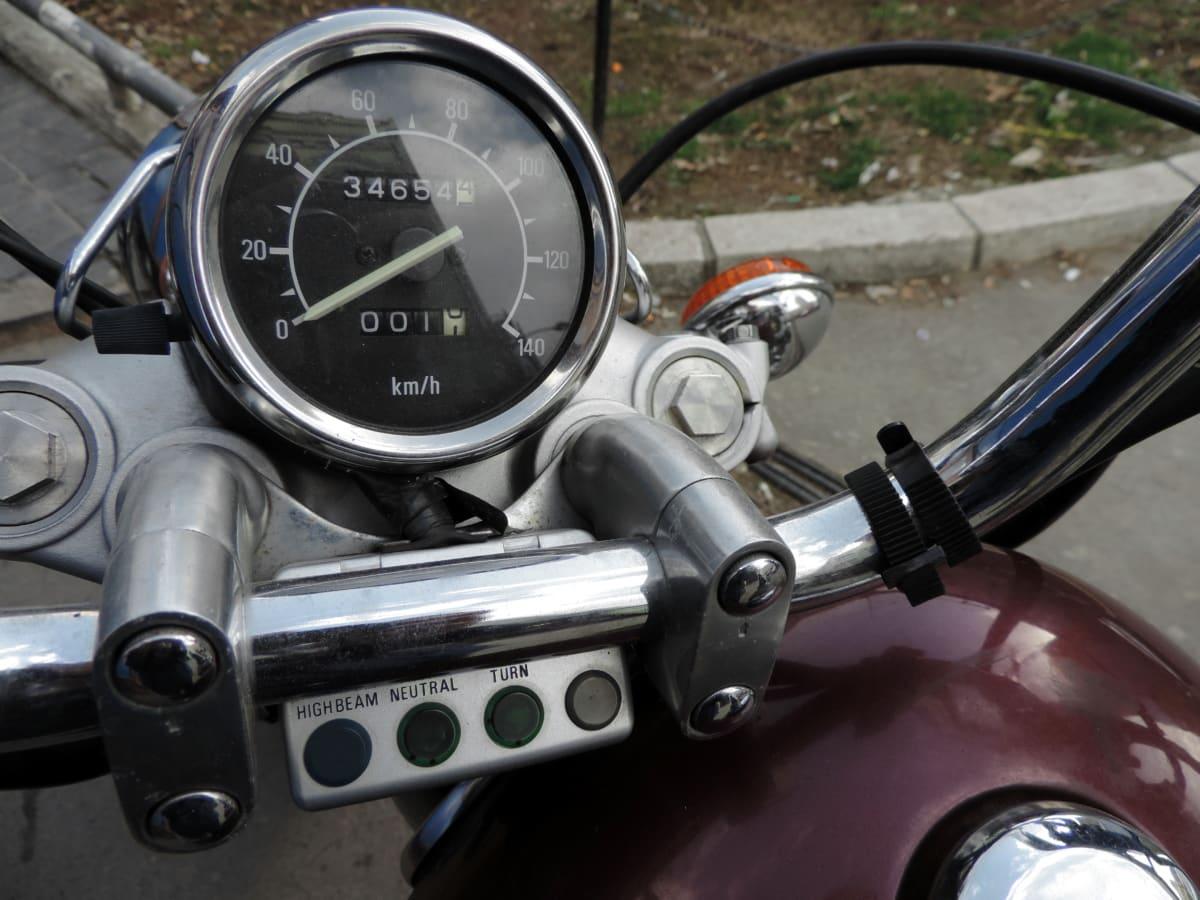 แดชบอร์ด, รถจักรยานยนต์, วัดความเร็ว, ยานพาหนะ, อุปกรณ์, แผงควบคุม, การเดินทาง, กลไก