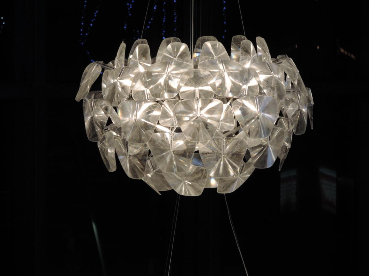 水晶, 黑暗, 豪华, 吊灯, 灯, 光, 闪耀, 照亮
