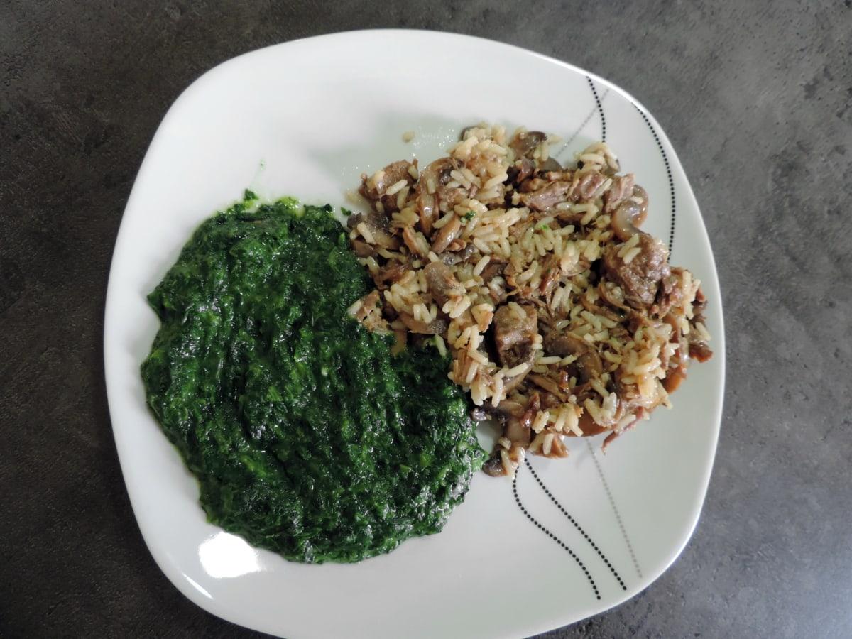liha, sienikastiketta, Kasvis, ateria, Ruoka, ruoanlaitto, illallinen, terve