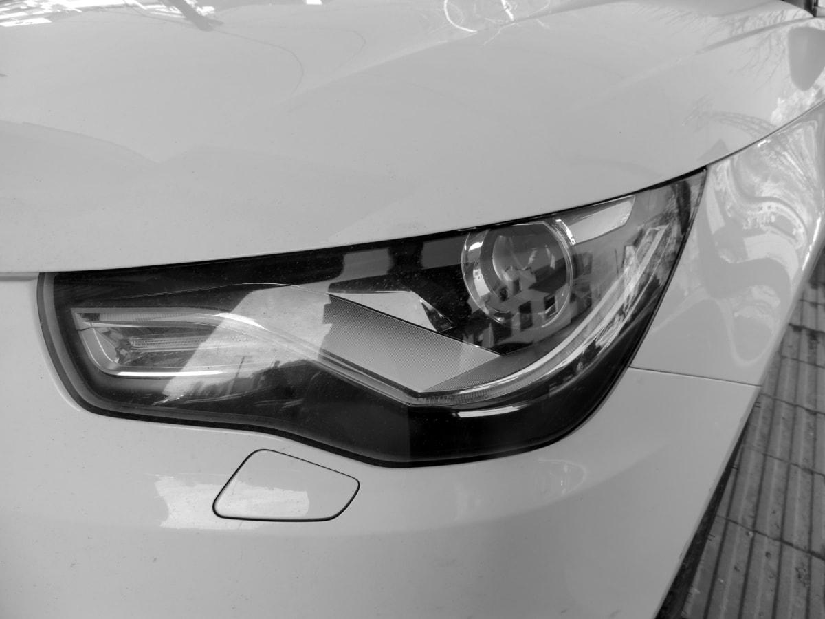 noir et blanc, phare, hotte, luxe, monochrome, transport, voiture, Vitesse