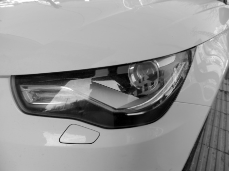 black and white, headlight, hood, luxury, monochrome, transportation, car, speed