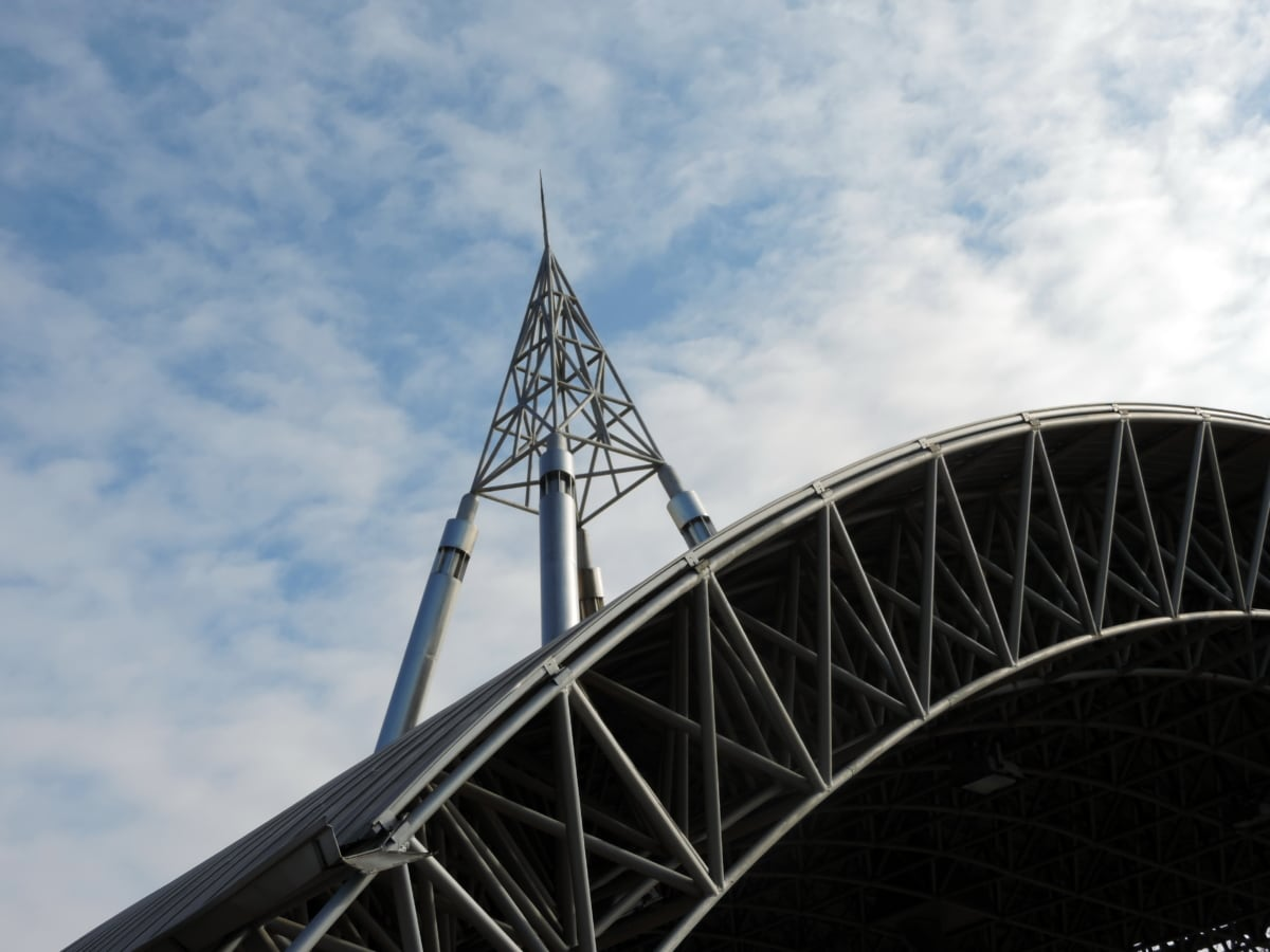 μπλε του ουρανού, Εφαρμοσμένη μηχανική, προοπτική, Πύργος, αρχιτεκτονική, δομή, χάλυβα, ταξίδια