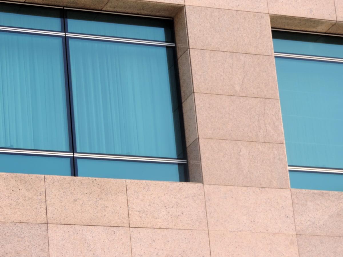 architektura, budova, zeď, okno, moderní, moderní, stavba, reflexe