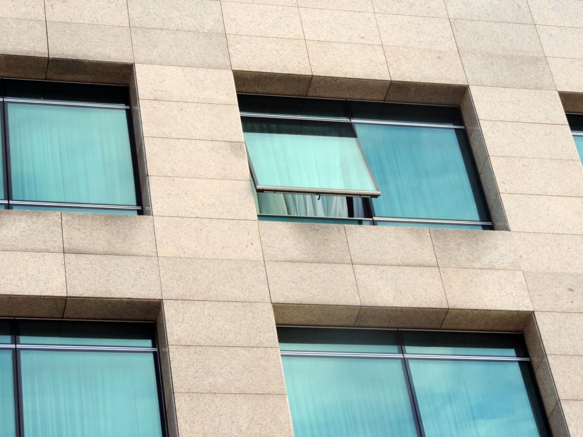 Прозорец, сграда, отражение, съвременен, архитектура, модерни, офис, бизнес